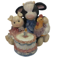 "Marys Moo Moos Figure ""Butter Cream Wishes"" 627747 Cow Birthday Cake Enesco 1993"