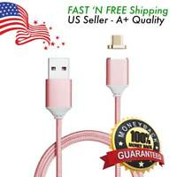 Micro USB Fast Magnetic Charger Data Sync Cable Braided Cord for Samsung Android