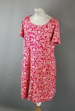 White Stuff Ladies Dark Rose Pink Tunic with Floral Pattern in Uk Size 16