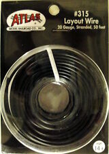 Atlas #315 BLACK 1 Conductor Layout Wire 50 feet 20 gauge stranded * All Scales