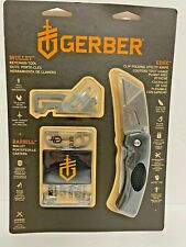 GerberEdge Barbill Mullet Blade Fold Retractable Utility Knife Keychain Tool