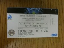 23/11/2011 Ticket: Marseille v Olympiakos [Champions League] . Thanks for viewin