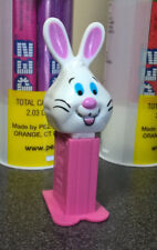 Yellow, Blue and Pink Eggs with Easter Bunnies and mini Pez Candy Dispensers