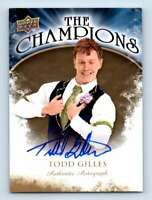2009-10 Upper Deck The Champions Autographs Gold Todd Gilles Auto #CH-GI
