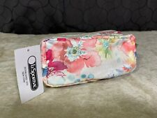 Lesportsac Kevyn Waterlily Garden Water-paint Floral Travel Cosmetic Bag