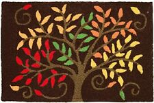 """NEW! Home Comfort Autumn Colors Jellybean Tree Brown Area Rug Washable 21"""" x 33"""""""