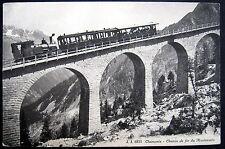 FRANCE~1900's CHAMONIX~ Chemin de fer du Montenvers ~ COG RAILWAY  TRAIN