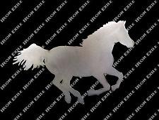 Horse Running Stallion Equine Farm Ranch Barn Western Metal Wall Art Gift Idea