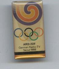 ORIG. pin los juegos olímpicos seúl 1988-German Radio-TV // ard/ZDF!!! Top