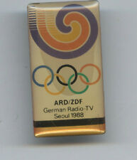 Orig.Pin   Olympische Spiele SEOUL 1988  -  German Radio-TV // ARD / ZDF !!  TOP