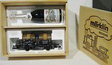 Marklin 85854 SPECIAAL Museumwagen Spoor 1 1996 houten ketelwagen fles sect