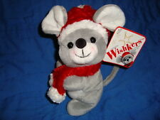 Sears Exclusive 2001 Christmas Mouse WISHKERS  W/tags Plush & Beans