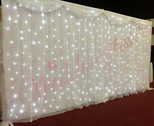 6M White LED Starlight Wedding Backdrop with Swag, Overlay and Heavy Duty Stands