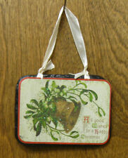 CHRISTMAS SLATE ORNAMENT/SIGN #44952A ALL GOOD WISHES FOR A HAPPY CHRISTMAS,