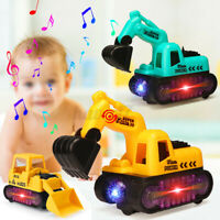 Toys for Kids Boys Toddler LED Truck Excavator Electric Toy Car Cool Xmas Gift