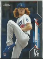 Dustin May 2020 Topps Chrome Rookie Card #176