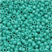 8/0 Opaque Rainbow Turquoise TOHO Round Glass Seed Beads 15 grams #413