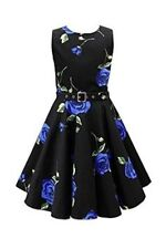 BlackButterfly Audrey Infinity Vintage Rockabilly Floral 1950s Dress uk 18