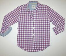 MINI BODEN checked gingham button up shirt in a size 7 8 Y Excellent Condition