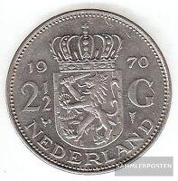 Niederlande KM-Nr. : 191 1972 sehr schön Nickel 1972 2-1/2 Gulden Juliana