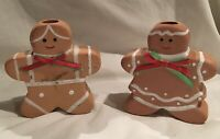 Vintage Christmas Ginger Bread Candle Holders
