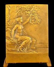 Médaille naked woman femme dénudée sc Charles Pillet à L Jame St Eloi 1941 Medal