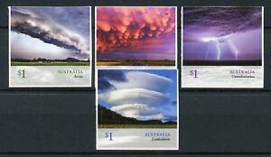Australia 2018 MNH Cloudscapes Clouds Mammatus Arcus 4v S/A Set Nature Stamps