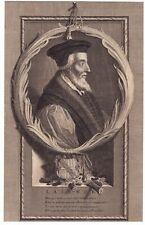 Portrait XVIIIe Hugh Latimer Bishop of Worcester Oxford Martyrs Anglicanism 1713