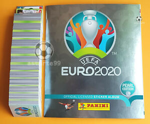 Panini Euro 2020 Swiss Pearl Edition Complete Set 678 Stickers + Softcover Album