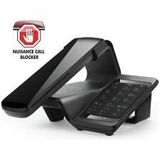 iDect Lloyd Maison téléphone noir sans fil Fixe Appel blocage, répondeur