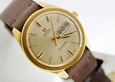 OMEGA SEAMASTER ORO OROLOGIO VINTAGE SOLID GOLD WATCH MONTRE UHREN CAL. 752