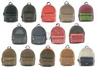 Coach Coated Canvas Leather Medium Charlie Backpack Bag
