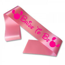 Bride To Be Disney Hen Party Sashes Princess Decoration Minnie Pink Hen Do Night