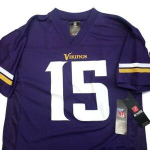 NFL Minnesota Vikings Youth Boys Jersey 2 Sided #15 Greg Jennings Purple L or XL