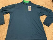 Pebble Beach Dry-Luxe Performance 1/4 Zip Long Sleeve Golf Shirt ^ Mens M Nwt