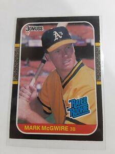 MARK McGWIRE Oakland A's Rookie RC 1987 Donruss #46
