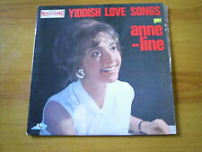 ANNE-LINE Yiddish love songs FRENCH LP DISCAZ