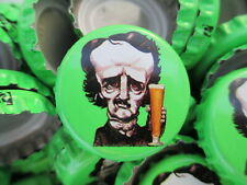 100 Poe ((( Green ))) Raven Brewing Beer Bottle Caps (No Dents). Free Shipping