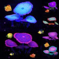 Koralle Leuchtend Künstliche Silikon Aquarium Pflanzen Unterwasser Ornament Deko