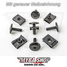 10x Set Metall Halterklammern + Torx Schrauben T30 M6 Audi Seat Skoda VW #NEU#