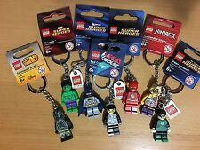 Lego Minifigure Key Chain/Ring Star Wars DC Comics Marvels Lego Movie Ninjago