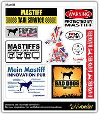 Auto Aufkleber Sticker MASTIFF COLLECTION DOG Sammlung reflex warning SIVIWONDER
