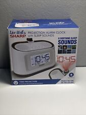 New In Box Sharp Projection Alarm Clock with Soothing Nature Sounds Rain SPC585