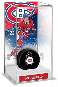 Autographed Cole Caufield Canadiens Puck Fanatics Authentic COA Item#11355666