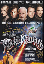 Jimmy Nail, Jeff Wayne David Essex + 2 HAND SIGNED 12x8 Photo War Of The Worlds