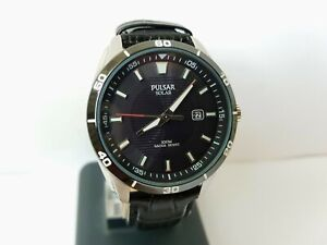 New watch Pulsar Solar AS32-X012, stainless steel, charging from light.