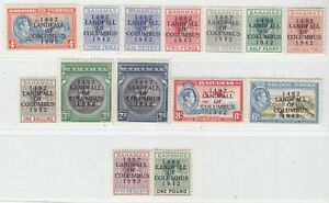 BAHAMAS  1942  ISSUE FULL SET UNUSED SG.162/75