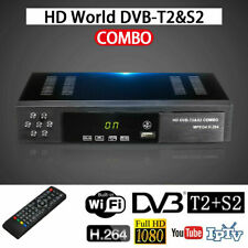1080P DVB-T2+DVB-S2 FTA Tuner Smart Digital Satellite TV Receiver BoxTOP Set New