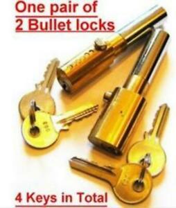 Bullet Locks with 2 x Brass 2 Keys Each Lock Oval