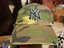 New York Yankees Twins Enterprise Baseball Cap Camo Adjustable Strapback Hat